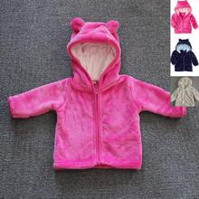Special offer!!!Baby Coats girls/boys Kids Tops Kids Warm sweatshirt Hooded coat Coral soft Velvet padded coat Children Jackets