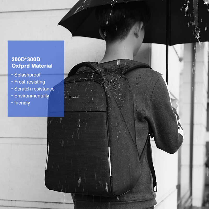 """Tigernu Мода 2019 г. 15,6 """"Ноутбук Anti theft дизайн для мужчин рюкзак зарядка через usb Высокое качество водостойкий Повседневный школьный рюкзак мужской"""