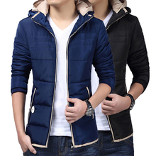 New Winter hooded cotton padded men Korean Short slim men thick cotton padded jacket veste homme doudoune homme manteau homme