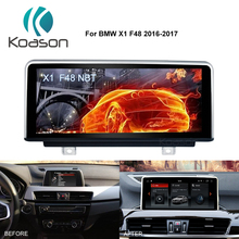 Koason 10.25 inch IPS Screen Android 8.1 Auto Video GPS Navi for BMW X1 F48 2016-2017 Original Car NBT ID6 Navigation