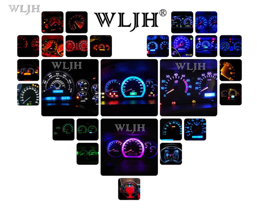 WLJH 16x أبيض أزرق أحمر أخضر وردي أصفر أداة قياس العنقودية + التحكم في المناخ مجموعة إضاءة LED لهوندا سيفيك EG 1992-1995