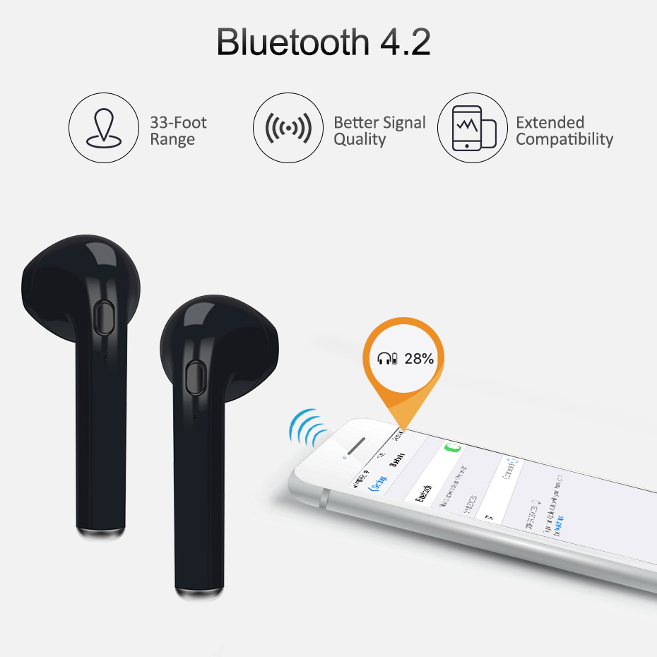 TiYiViRi Mini Wireless Bluetooth Earphone Headphones Sport Wireless Earbuds Headsets With Charging Box For iphone Xiaomi Huawei in Bluetooth Earphones Headphones from Consumer Electronics