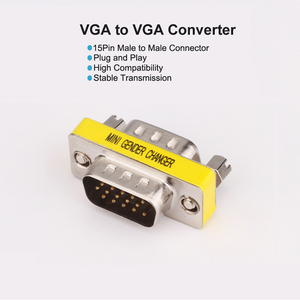 Image 3 - Plug and Play VGA to VGA Adapter Male to Female Connector HD15 VGender Changer Convertor For Laptop PC SVGA Coupler Adaptor