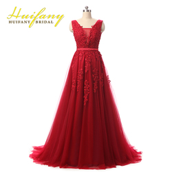 Robe de soiree red coral royal blue pink lace appliqued beaded sexy long evening dress elegant.jpg 250x250