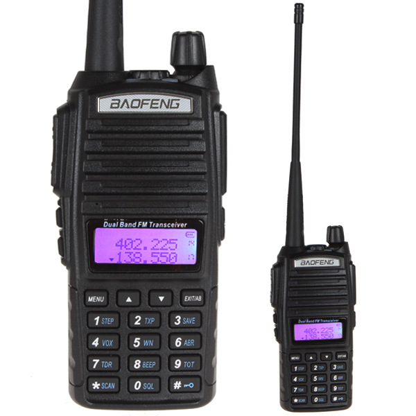 imágenes para Ptt walkie talkie baofeng uv-82 radio portátil vhf 10 km dual profesional vox jamón radio radio comunicador baofeng uv-82 cb radio
