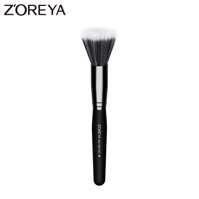 Zoreya Brand 1pcs Bristle Duo Fiber Make up Brush  Full Size Powder Brush Skin Care Black makeup brush tool