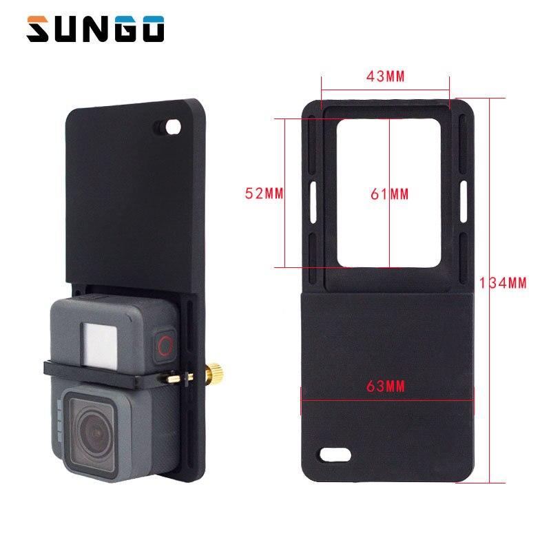 Schalter Montageplatte Adapter Für Gopro 5 4 3 xiao Yi mi 4 karat eken cam Für DJI Osmo Mobile Zhiyun Hand Gimbal Kamera Zubehör