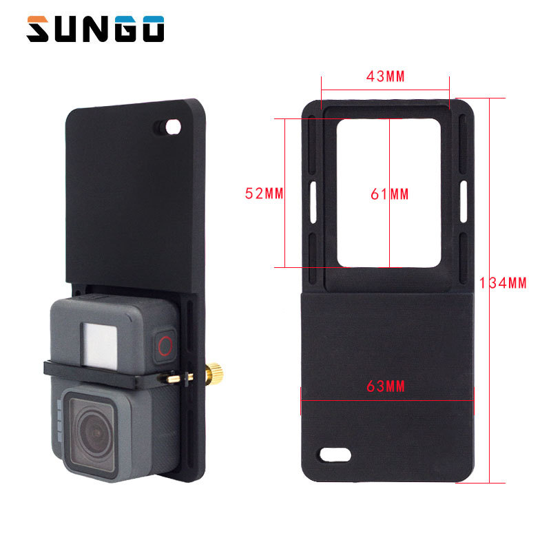 Switch Mount Plate Adapter For Gopro 5 4 3 xiao Yi mi 4k eken cam For DJI Osmo Mobile Zhiyun Handheld Gimbal Camera Accessories