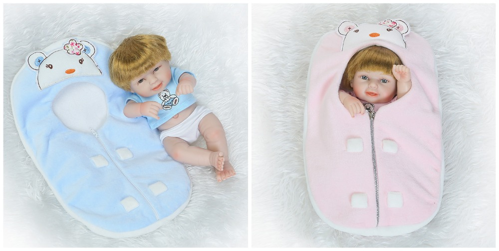 reborn baby dolls toy mini lovely newborn twins girl and boy babies