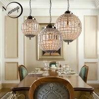 Ретро Винтаж Royal Empire мяч Стиль большой светодио дный кристалл современная люстра лампы люстры огни E27 для Гостиная спальня ванная комната