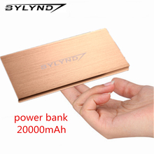 Power Bank 20000mAh Dual USB Portable external battery pack Charger emergency battery charger Powerbank Backup power