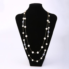 New Creative Long Beaded Necklace Japanese And Korean Style Female Accessories Fashion Wedding Simple Jewelry