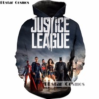 PLstar Cosmos DC Comics 3d Hoodies Superhero Movie Justice League Print Sweatshirt Men Women Hoody Tracksuits