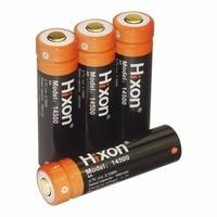 Hixon 4 stücke 14500 3,7 V 800 mAh für mini LED taschenlampe Wiederaufladbare Lithium-lion Batterie