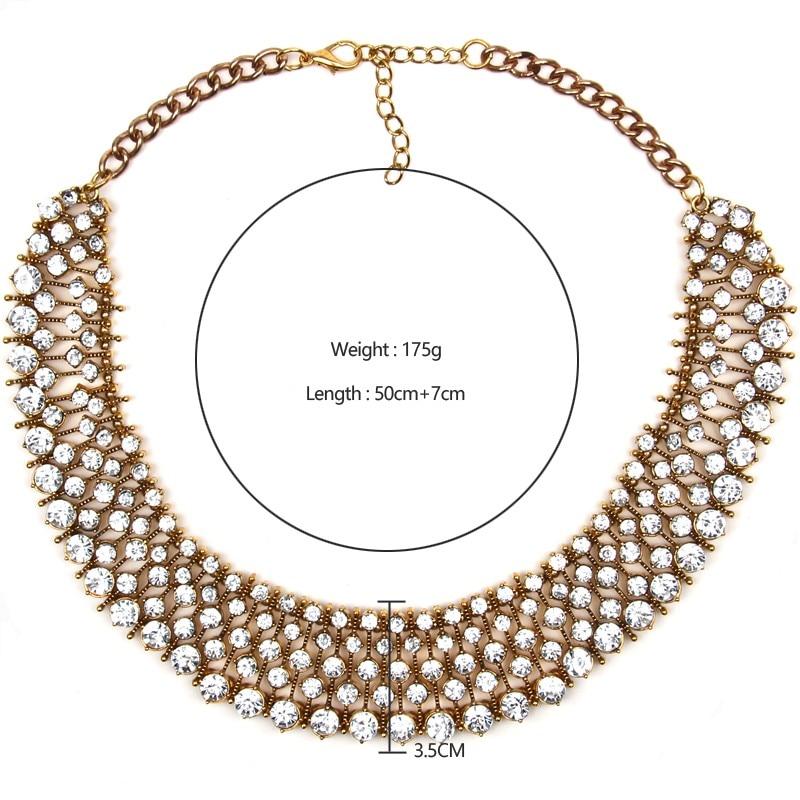 Ztech 18 Women Necklaces & Pendants Vintage Crystal Maxi Choker Statement Collier Femme Boho Big Fashion Jewellery Wholesale 20