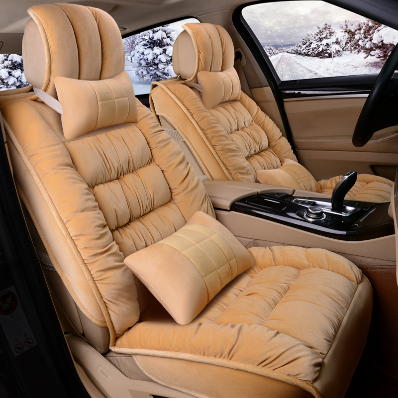 3D Fully Enclosed Short Plush Seat Cover Winter Mats Car Styling For BMW F10 F11 F15 F16 F20 F25 F30 F34 E60 E70 E90 In Automobiles Covers From