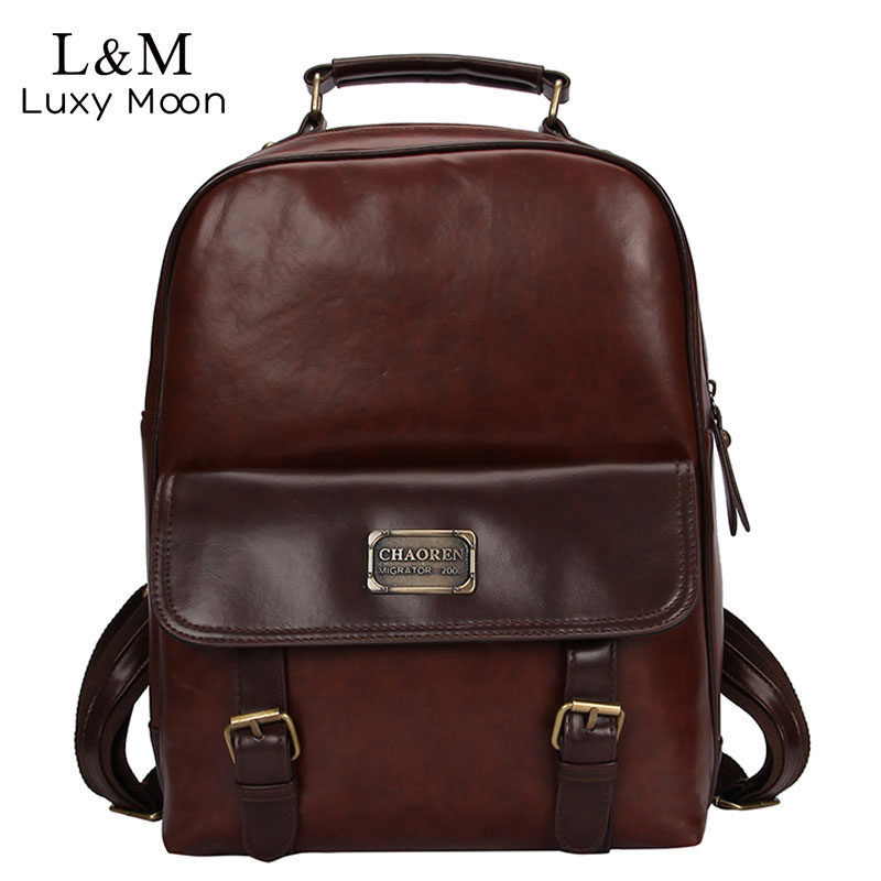 New Women Backpack School Bag PU Leather Backpack Female College Vintage Leisure Travel Backpack For High School Students XA145H цена 2017