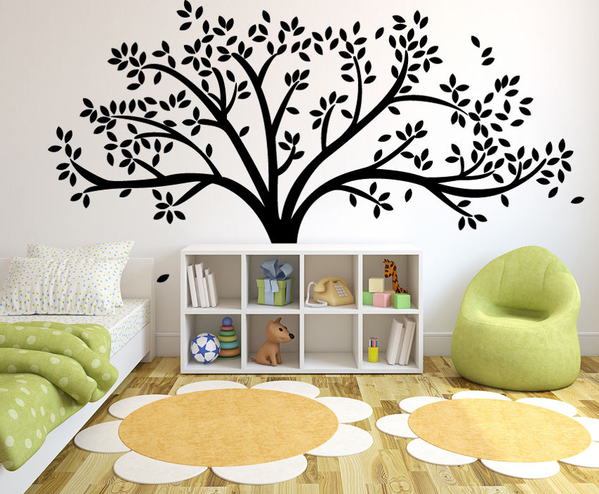 Giant Family Tree Wall Sticker Vinyl Art Home Decals Room Decor Branch Baby  Wall Decals DIY Wall Stickers For Kids Room D658 In Wall Stickers From Home  ... Part 60