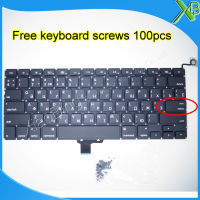 Brand New For MacBook Pro 13 3 A1278 Small Enter RS Russian Keyboard 100pcs Keyboard Screws