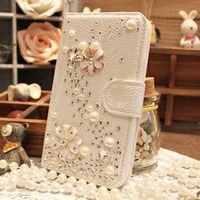 Lujosa Funda de cuero tipo cartera con diamantes de imitación de cristal brillante con tapa para iphone X XS MAX XR 5S 6 7 8 PLUS