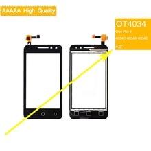 10 pçs/lote Para Alcatel One Pixi 4 OT4034 4034D 4034A 4034E 4034 Sensor de Tela de Toque Do Painel de Toque Digitador Frente Tela Sensível Ao Toque