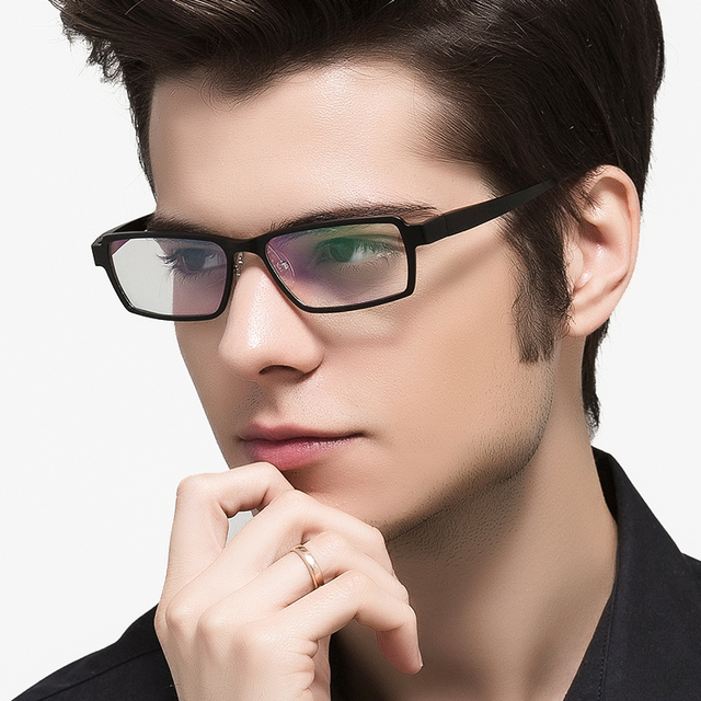 Aluminum Magnesium Anti Blue Laser Fatigue Radiation-resistant Men's Eyeglasses Glasses Frame Oculos de grau Google Eyewear 202