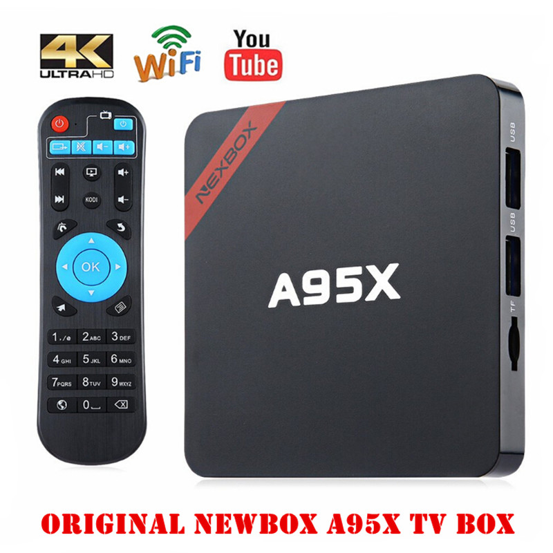 Hot NEXBOX A95X Smart Tv Box Max 2GB/16GB Amlogic S905X Android 6.0 Box Quad Core 2.4G Wifi 1080p BT4.0 Set Top Box PK X96 X92 newest amlogic s905x tv box nexbox a95x nexbox android 6 0 box 2g 16g quad core 2 4g wifi smart tv box android tv box