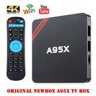 Hot NEXBOX A95X Smart Tv Box Max 2GB/16GB Amlogic S905X Android 6.0 Box Quad Core 2.4G Wifi 1080p BT4.0 Set Top Box PK X96 X92