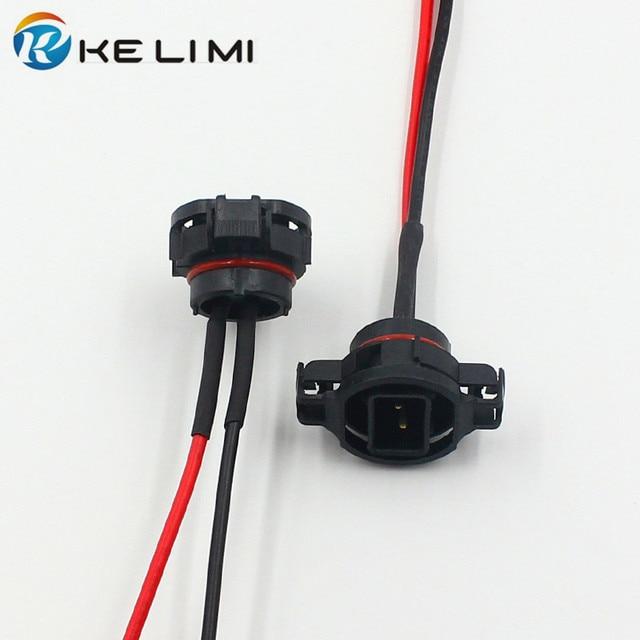 KE LI MI 2x Male/ H16 5202 5201 PSX24W Connector Harness ...
