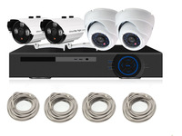 1.0Megapixel (1280 x 720p) 4Ch Network POE Video Security System (NVR Kit) Four 1MP POE Weatherproof IP Cameras Night Vision