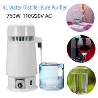 New Arrival 4L DIY Home Lab Factory Alcohol Ethanol Hydrolat Wine Water Distiller 220V/110V Pure Purifier Filter Stainless Steel