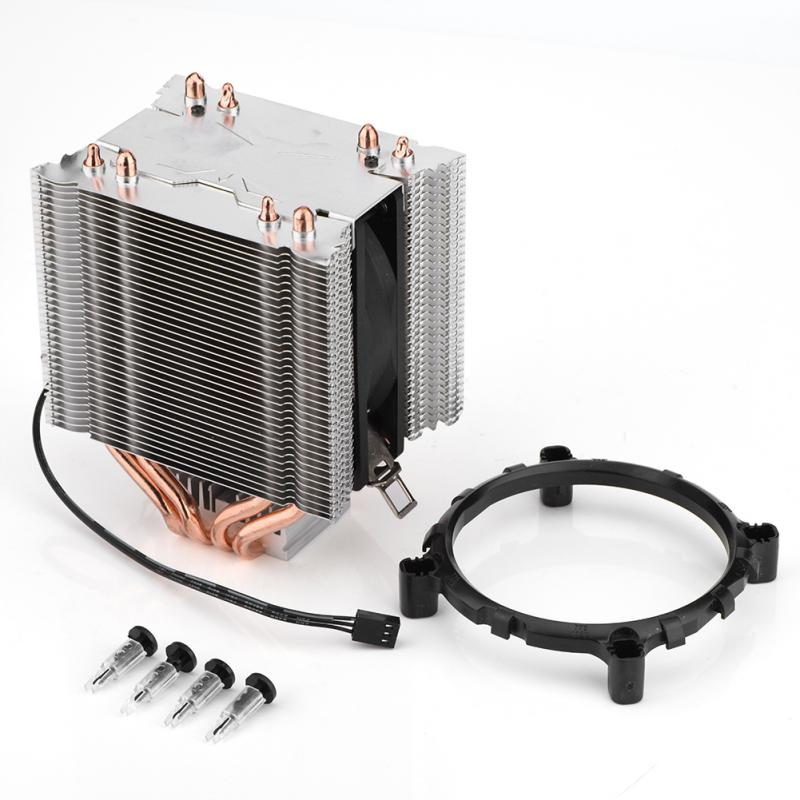 4 Heatpipe CPU Heat Pipe Radiator Quiet 3pin CPU Cooler Heatsink for Intel LGA775 / 1150/1151/1155/1156 for AMD 2/3 Fan Cooling akasa 120mm ultra quiet 4pin pwm cooling fan cpu cooler 4 copper heatpipe radiator for intel lga775 115x 1366 for amd am2 am3