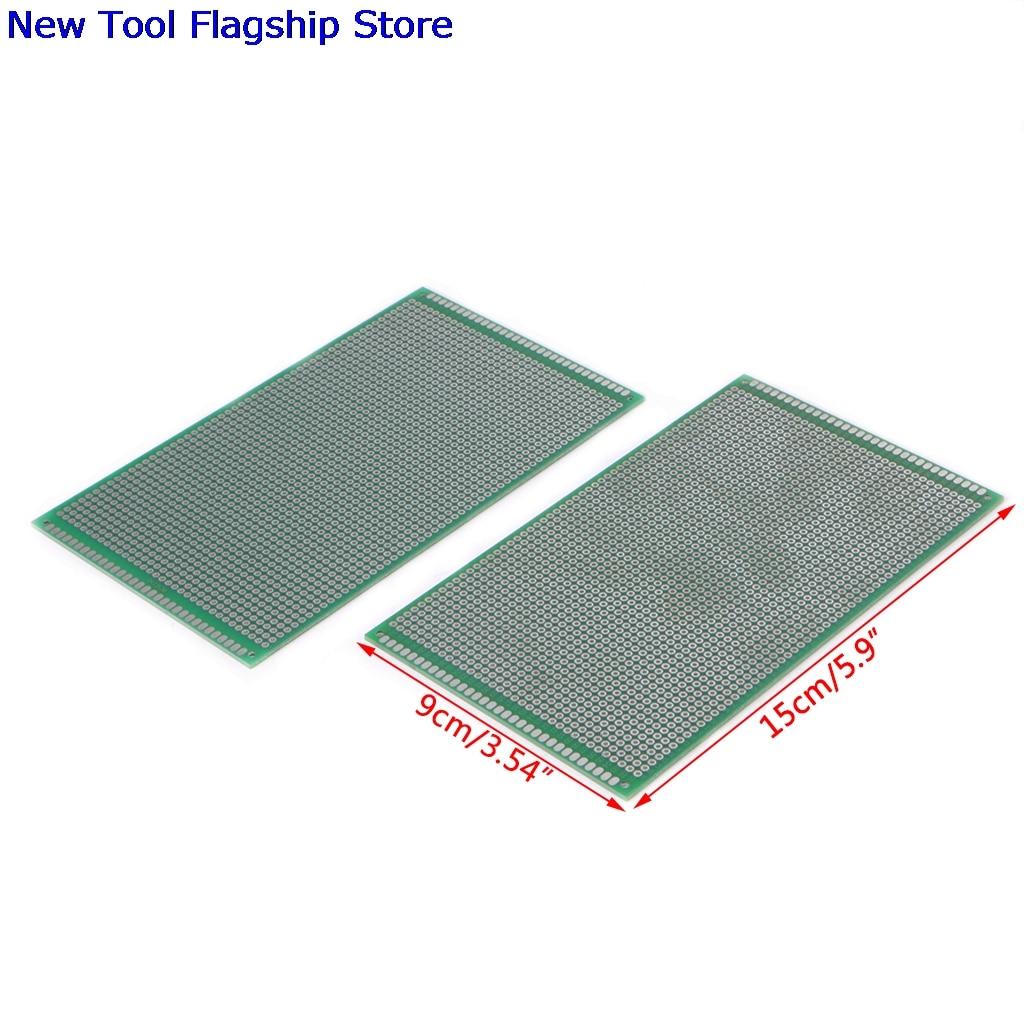 2Pcs/set Double Side Prototype DIY PCB Tinned Glass Fiber Universal Soldering Board 9x15cm