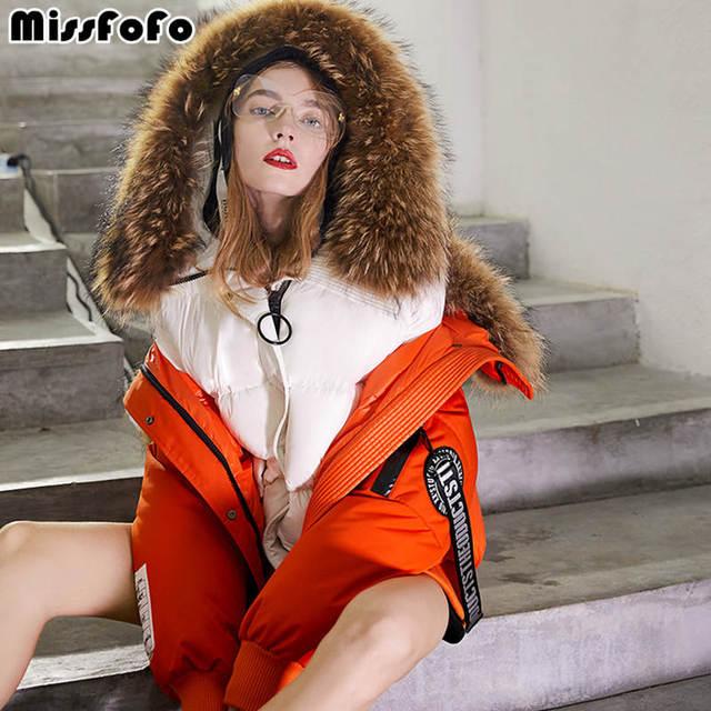 MissFoFo 2018 Новая женская куртка на утином пуху