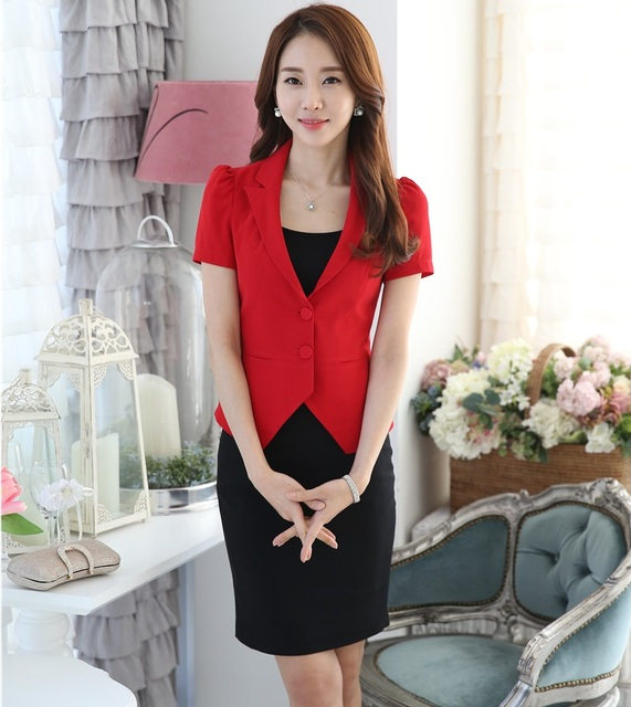 New Professional Business Women Work Skirt Suits With Jackets And Skirt Female Outfits Sets Blazers Uniforms Novelty Red In Skirt Suits From Women S