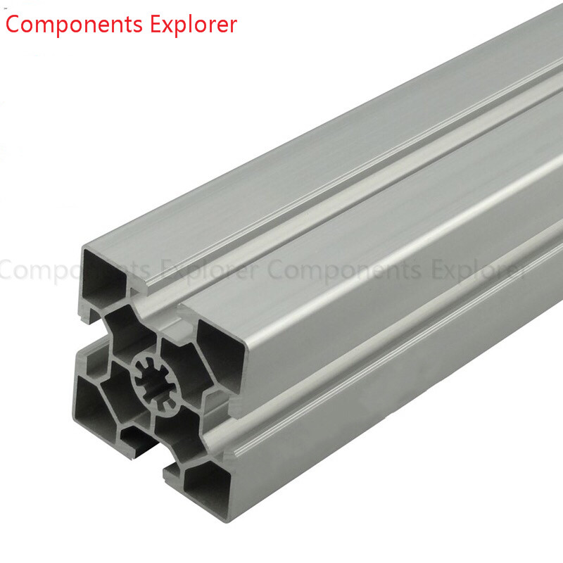 Arbitrary Cutting 1000mm 6060L Aluminum Extrusion Profile,Silvery Color.