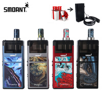 Original Smoant Pasito Kit Innovativelyrebuildablepodsystem with 3ML Atomizer 1100mAh for MTL&DTL Vaping with Protective Case