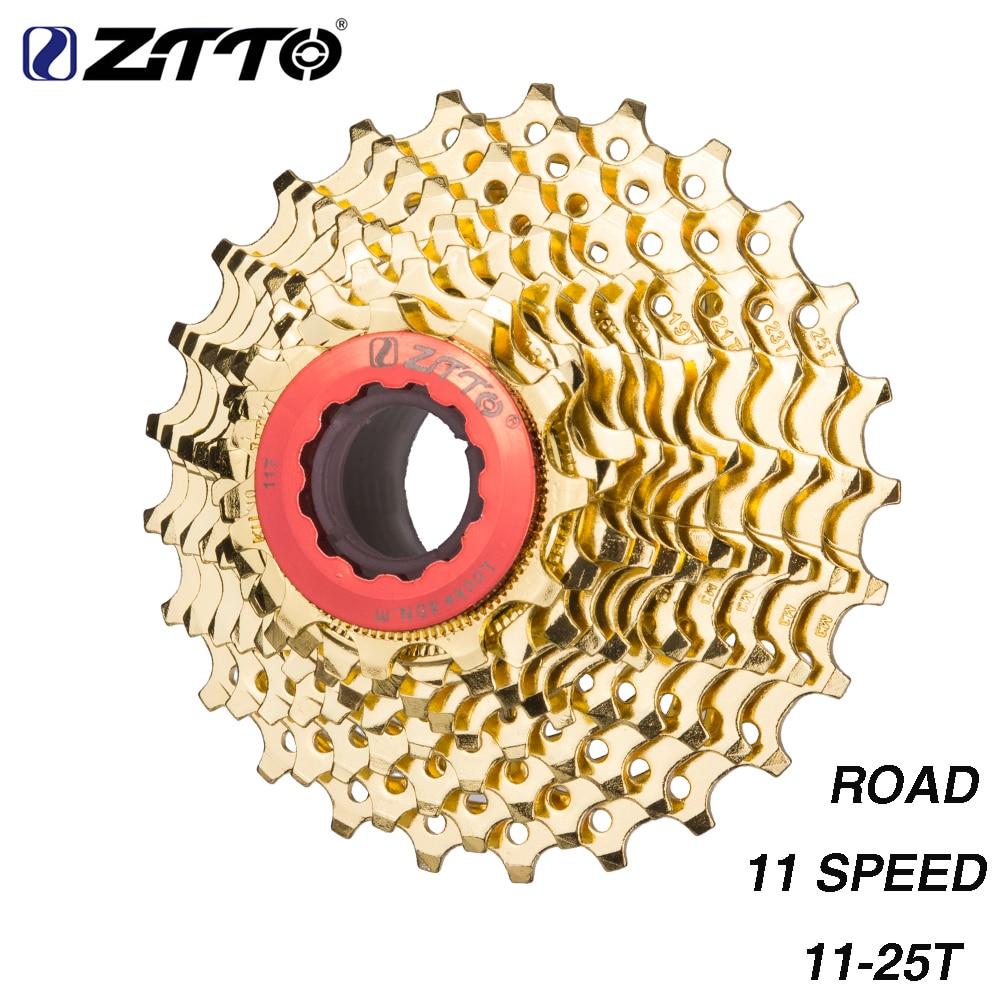 ZTTO Road Bike 11 s Cassette 25t 11 25T Gold Golden Steel Freewheel 22 Speed Flywheel