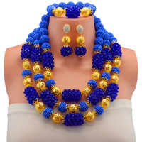 Nigerian Wedding African Beads Rushed Classic Women Jewelry Set New Arrived Nigeria Set Necklace Africa Beads