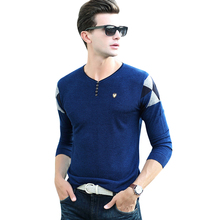 New Arrival Autumn&Winter Men V-Neck Sweater Fashion Desgin Warm Cashmere Sweater High Quality Slim Style