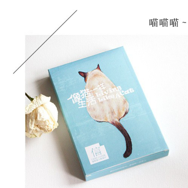 30 pcs/pack Creative Life of Cat Cartoon Animals Greeting Card Postcard Birthday Gift Card Set Message Card H1506