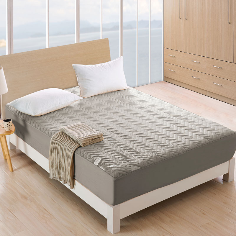 Anti Bacteria Cotton Mattress Cover Solid Water Ripple Design mattress protector bed Anti Dust Mite anti