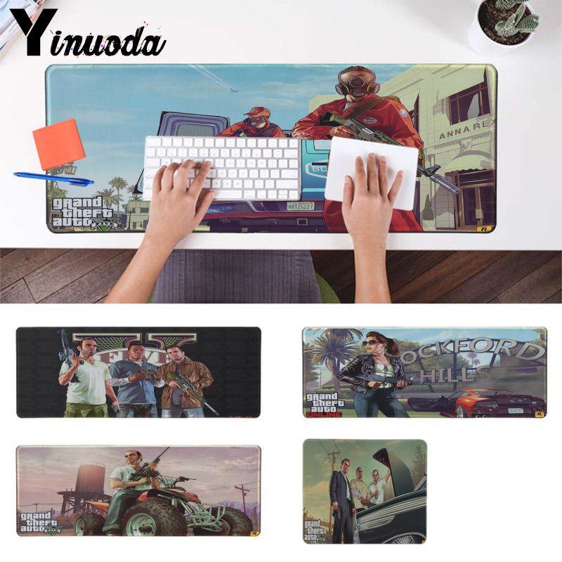 Yinuoda New Arrivals Gta Natural Rubber Gaming Mouse Pad Desk Mat Gaming Mousepad Mice Mat Precision Lock Keyboard Mat