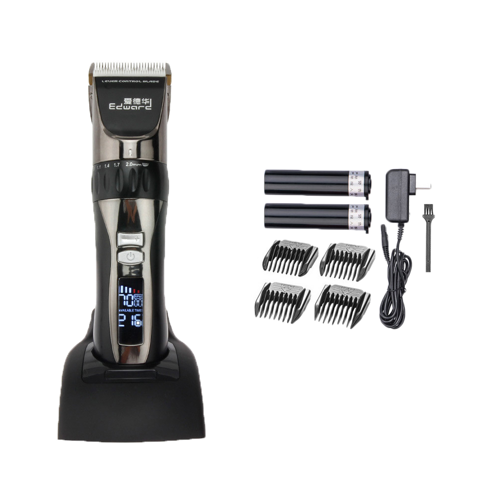 Hair Trimmer Electricity/Battery Hair Clipper LED Display Screen Lithium Battery Wool Hair Razor 10 pcs Combs as Gift Men Care electricity market reform