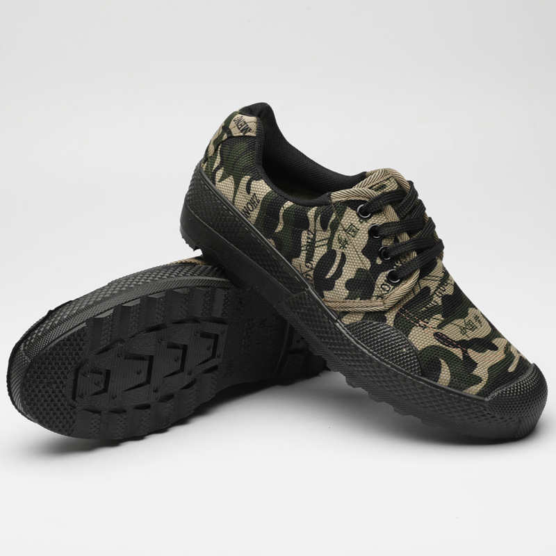 Breathable Military Non Slip Camouflage Training Labor Insurance Shoe man Student Military Training Shoes Shoes in Men 39 s Vulcanize Shoes from Shoes
