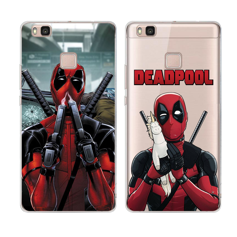 Deadpool Back Cover Phone Cases Coque For Huawei P9 Lite P9Lite Mini Silicone Unicorn <font><b>Spiderman</b></font> Superman <font><b>Soft</b></font> Shell <font><b>Accessories</b></font>