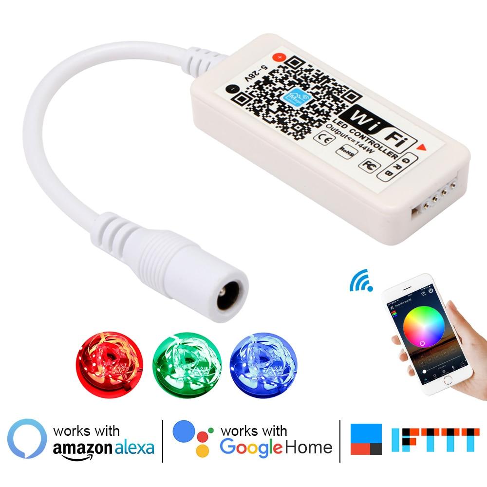 16Million colors Wifi RGB/RGBW led controller smartphone control music and timer mode magic home mini wifi led rgb controller