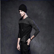 hip hop man's T-shirt Hipster  long sheeve male t-shirt camisa masculina streetwear cool styling men's clothing