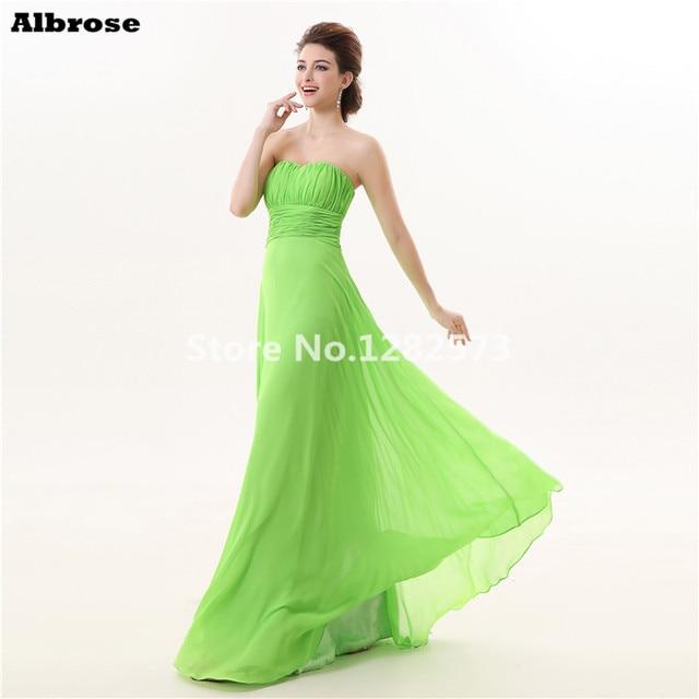 1069aab27 Verde brillante Vestidos de noche vestido de noche largo 2017 formal dreses sweetheart  elegantes vestidos de