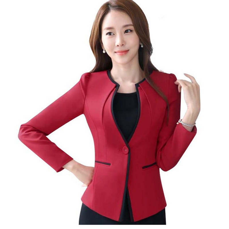 New Elegant and Fashion Women long sleeve blazer plus size OL office formal female jacket work wear slim Patchwork outerwear